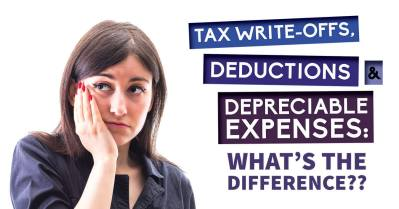 Tax Write-Offs, Deductions & Depreciable Expenses: What's the Difference?