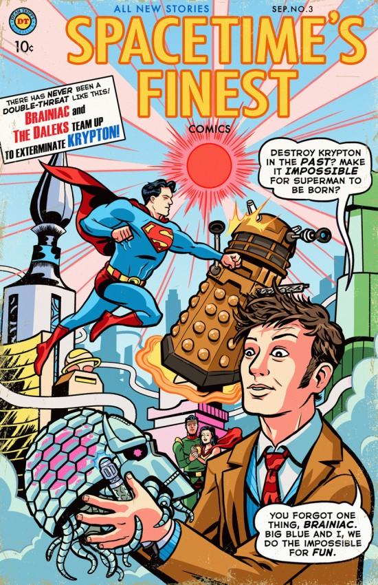 ultimate crossover superman the doctor vs brainiac the daleks