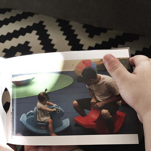 create monthly photo albums