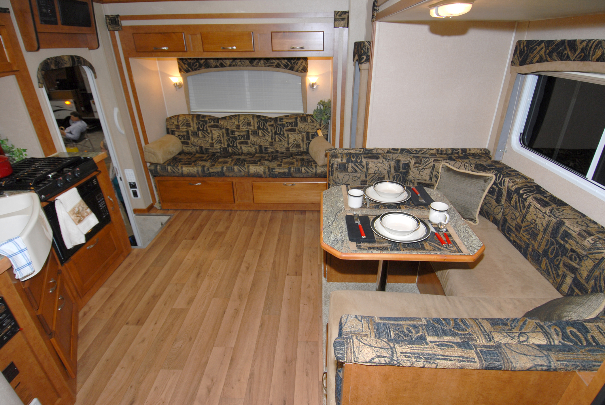 camping world rv sofas nova leather sofa let the big times roll chalet goes with triple slide