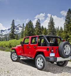 the jeep wrangler unlimited is distinguished from the base wrangler with a longer wheelbase plus the addition of two doors the four door unlimited makes  [ 2100 x 1400 Pixel ]