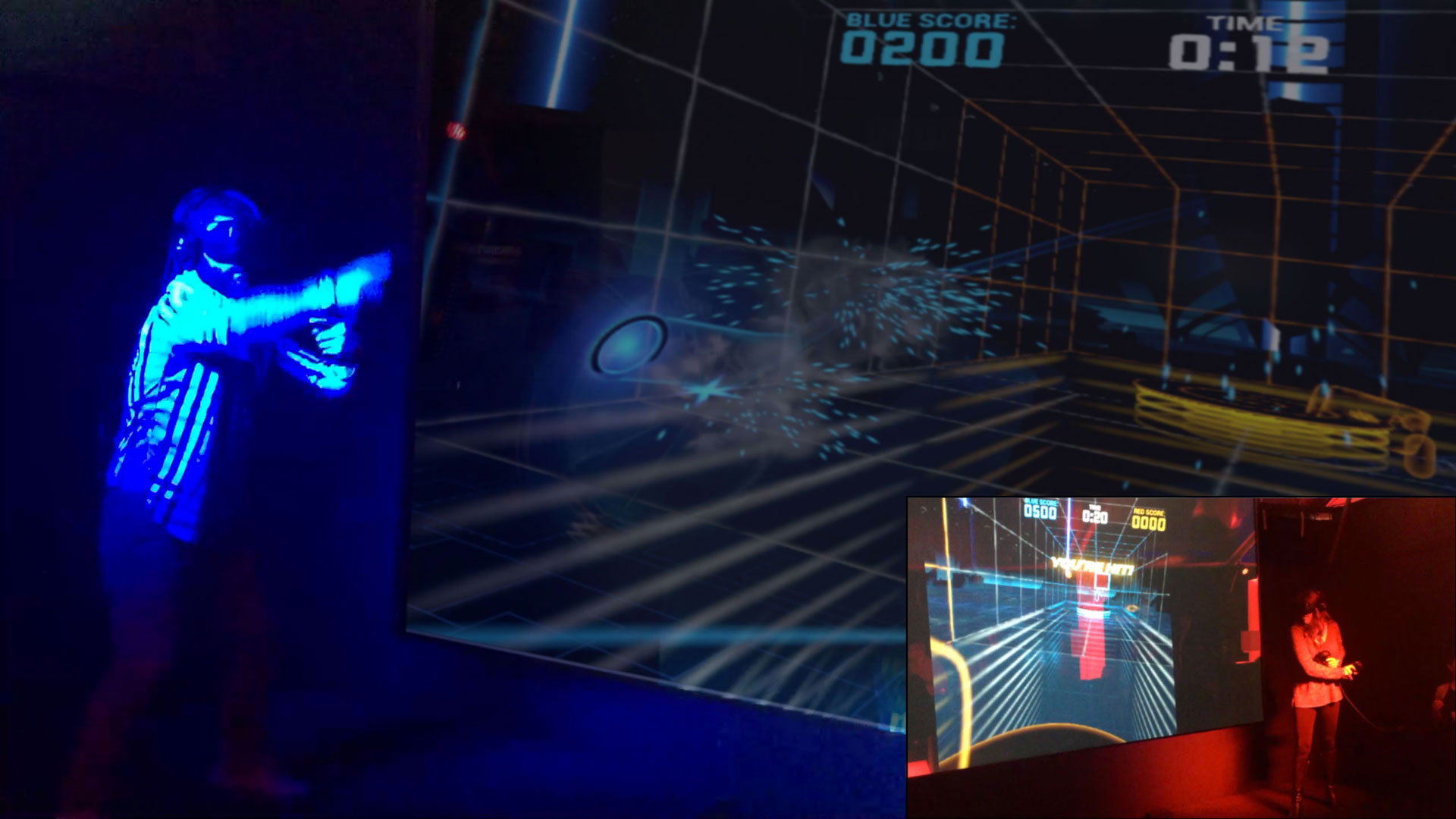 "Groove Jones Multiplayer VR Game Platform ""LightStrike"" at CES"