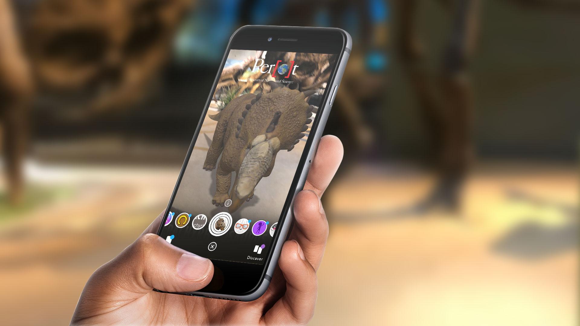 Snapchat AR Lens Perot Museum