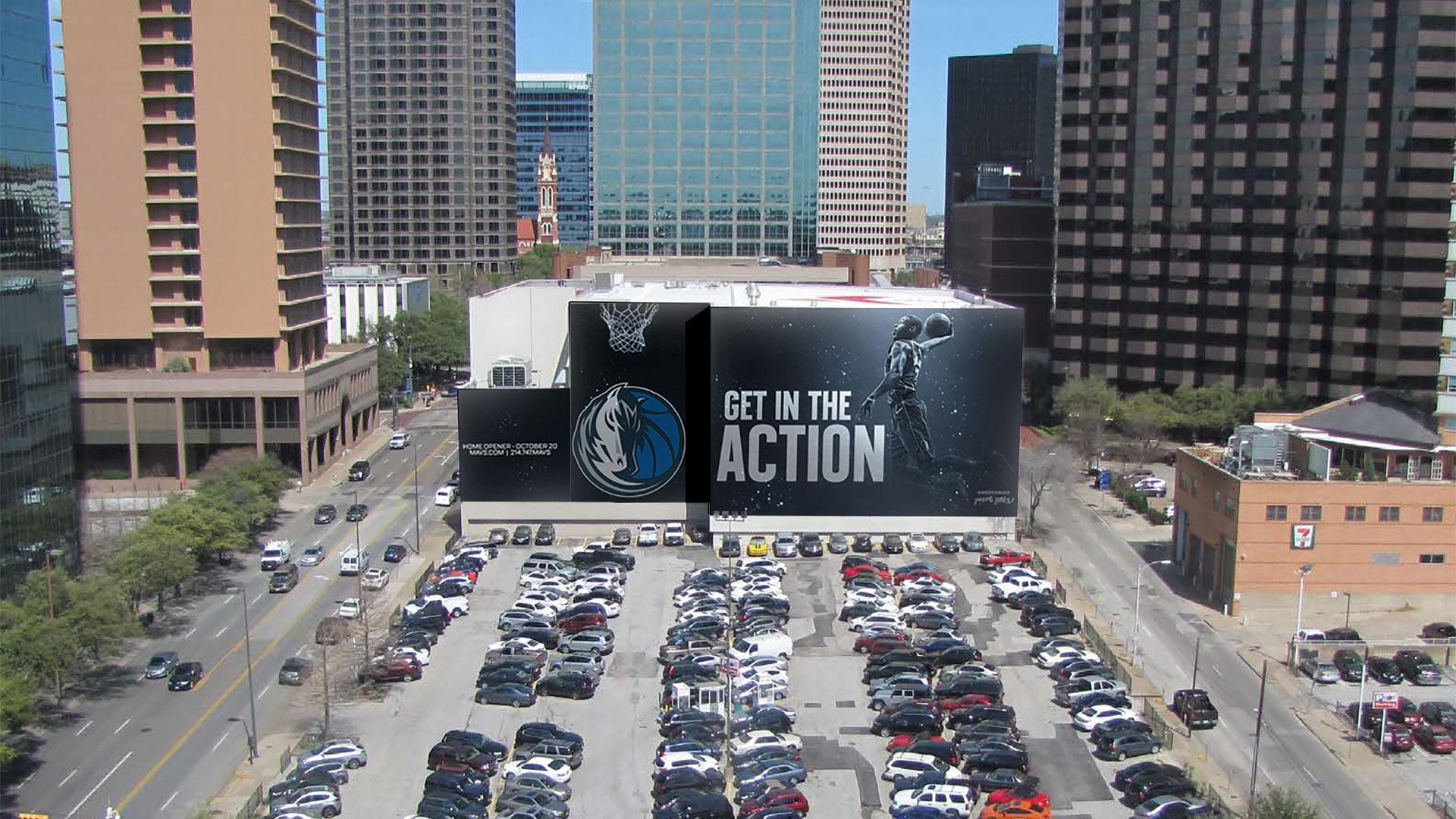 Dallas Mavs Facebook AR Filter Wall Mural
