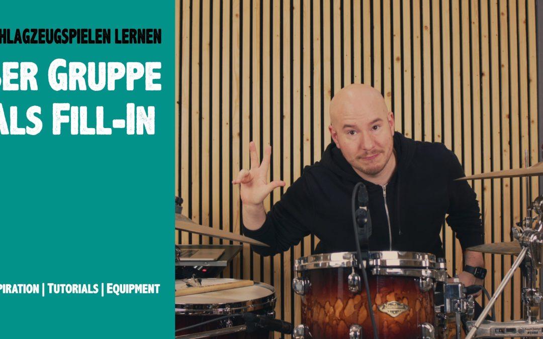 3er Gruppe als Fill In |Schlagzeug lernen