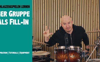 3er Gruppe als Fill In  Schlagzeug lernen