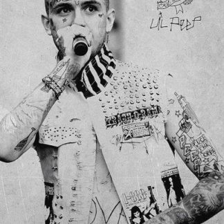 lil peep poster the grooveyard