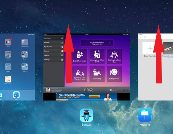 iOS7 step by step_closing application_via groovypinkblog