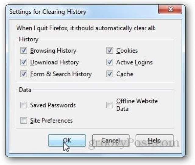Firefox History Delete 6