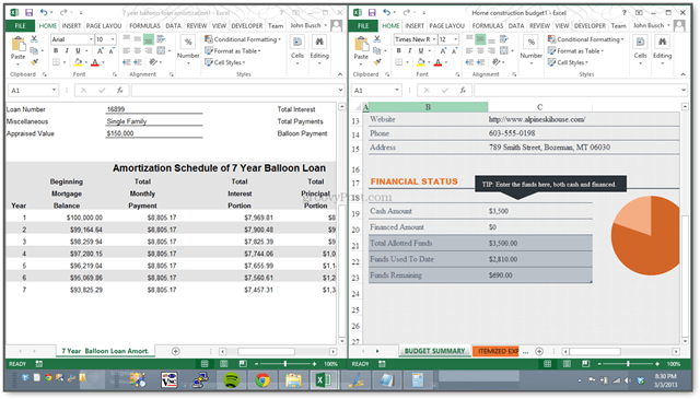 New! Excel 2013 Lets You View Spreadsheets Side-by-Side in Separate ...