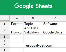 How-To Add Google Docs In-cell Dropdown and Validation in Spreadsheets