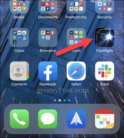 Длительное нажатие на иконку на главном экране iPhone