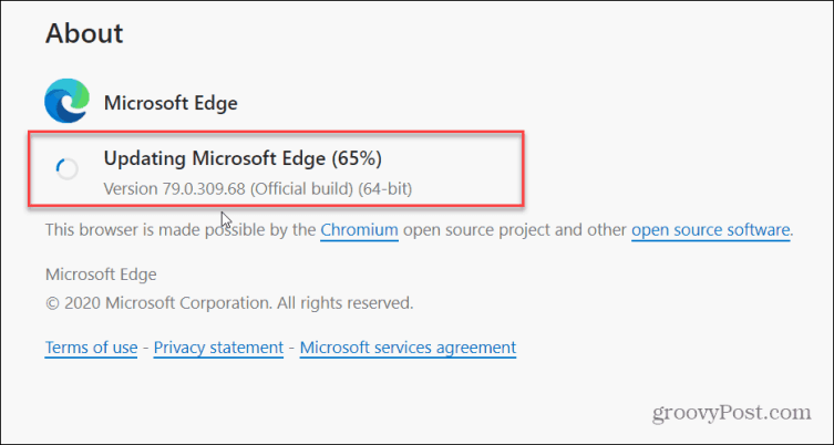 Обновить Edge