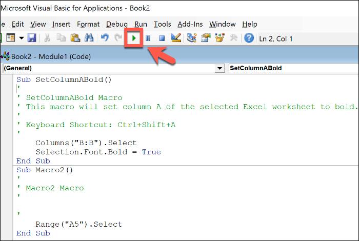 Редактирование макроса Excel в редакторе Office VBA