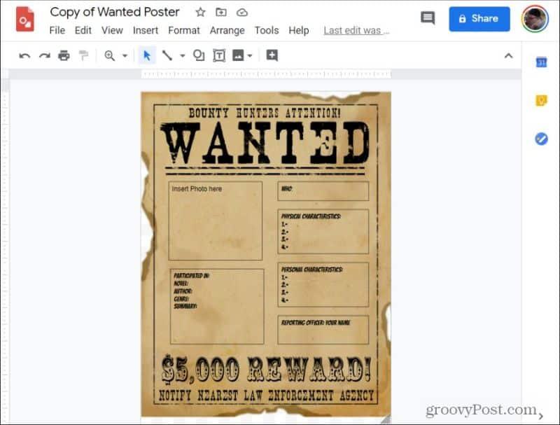 плакат с рисунками Google
