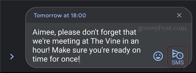 Как запланировать отправку текстовых сообщений по расписанию Android