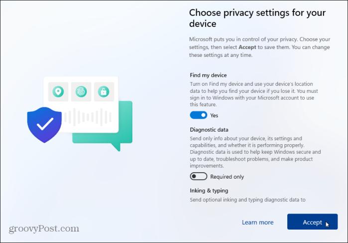 Конфиденциальность-Настройки Windows 11