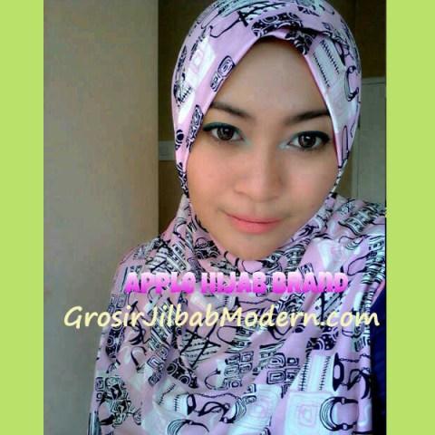 Jilbab Syria Luccy Keranjang Pink