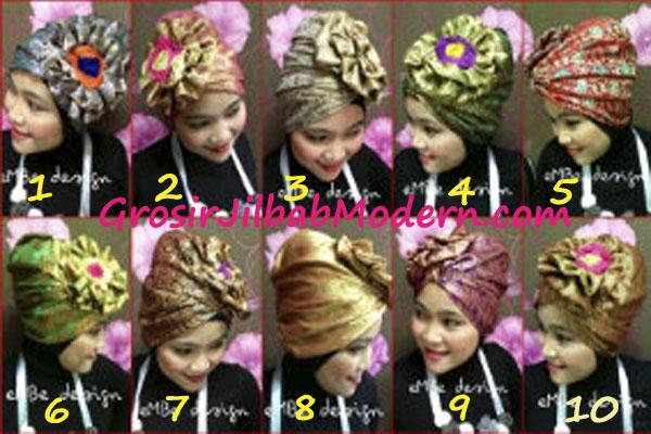 turban lotus songket