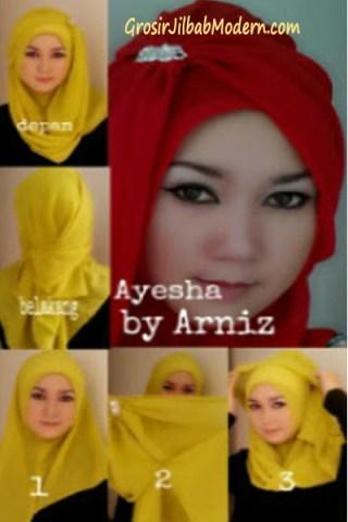 Cara Pakai Jilbab Ayesha Instant