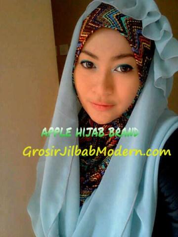 Jilbab Beverly Hoodie Biru Muda