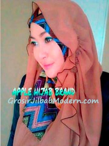 Jilbab Beverly Hoodie Coklat