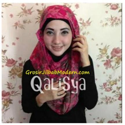 Jilbab Rooney Twist Hoodie Tile Pink Flower