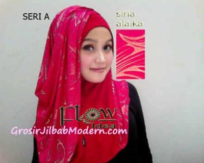 Jilbab Syria Alaika Merah SERI A