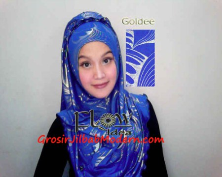 Jilbab Syria Goldee Seri 2 Biru