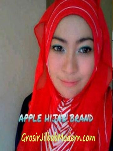 Jilbab Syria Hoodie Cattalea Merah