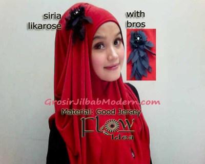 Jilbab Syria Likarose Series Oren Kemerahan