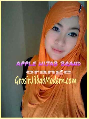 Jilbab Pashmina Kombinasi Syria Great PashSyr Orange