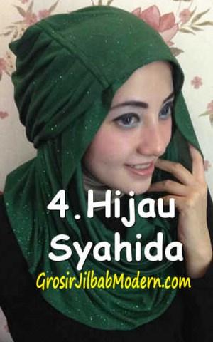 Jilbab Zura Hot Blink Hoodie No 4. Hijau
