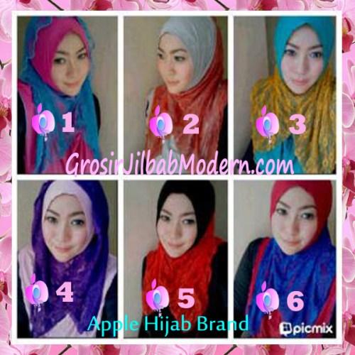 Jilbab Chattalea Brokat Series by Apple Hijab Brand