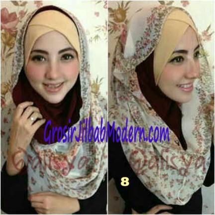 Jilbab Hoodie Instant Ileana No 8