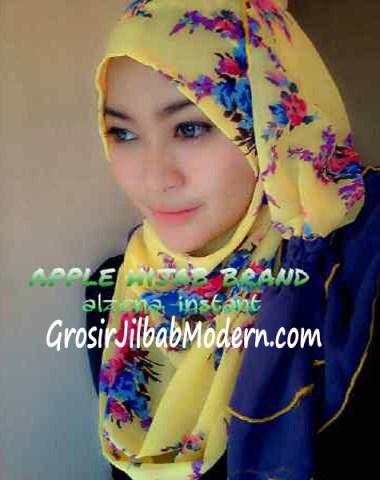 Jilbab Instant Alzena Kuning
