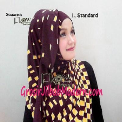 Jilbab Instant Squarein Coklat