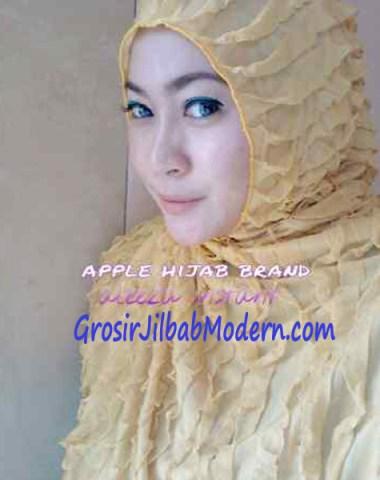 Jilbab Syria Aleeza Ruffle Kuning
