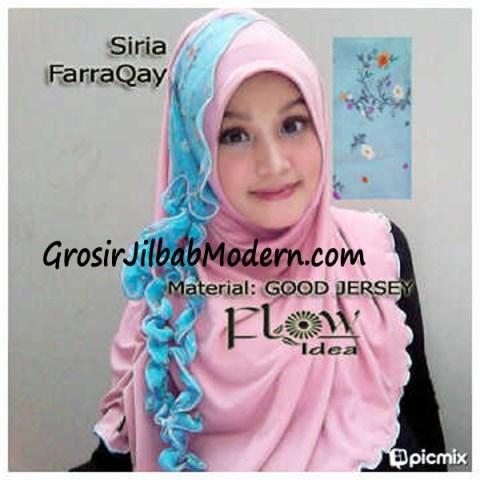 Jilbab Syria FarraQay Pink-Biru
