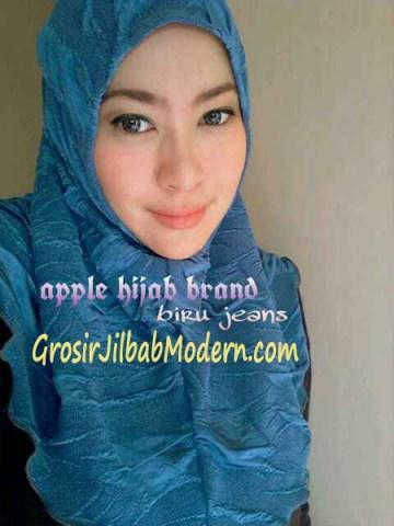 Jilbab Syria Instant Esklusive Aleeza Blue Jeans