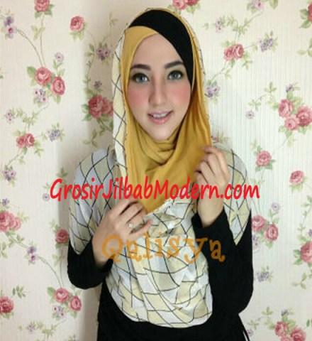 Jilbab Hoodie Instant Ileana Wajik No 2 Kuning Kunyit