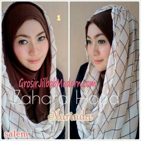 Jilbab Hoodie Instant Zahara Hood No 1 Salem