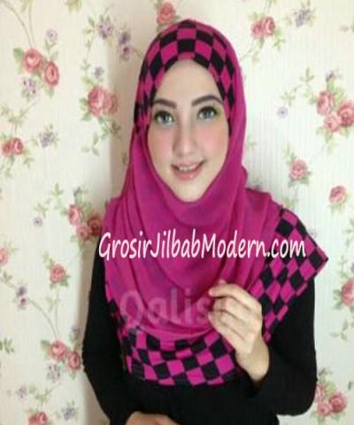 Jilbab Syria Elmo No 7  Hitam Fanta