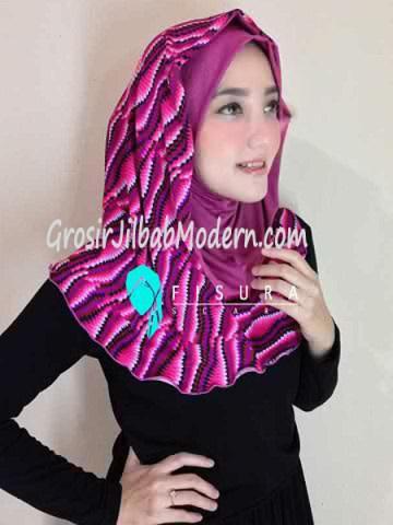 Jilbab Syria Najwa No 8 Magenta