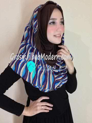 Jilbab Syria Najwa No 9 Coklat Tua