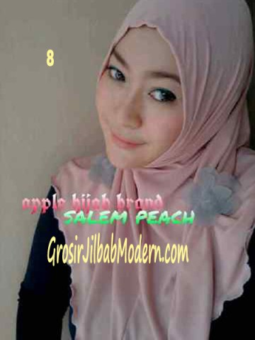 Jilbab Syria Simplity Rose No 8 Salem Peach