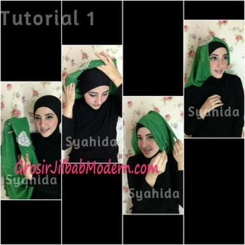 Turban Pesta Sufya Exclusive by Syahida Cara Pake Model 1