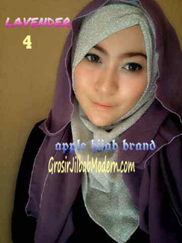 Jilbab Exclusive Jolie Gliter No 4 Lavender