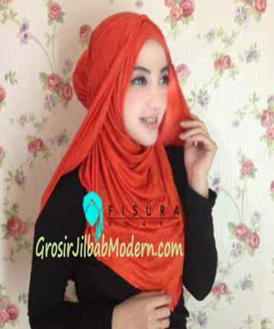 Jilbab Syria Dhella No 10 Orange