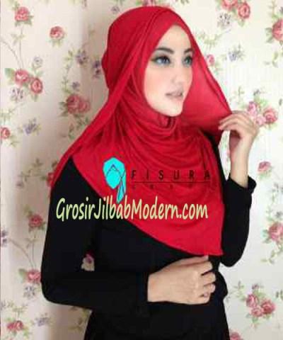 Jilbab Syria Dhella No 12 Merah